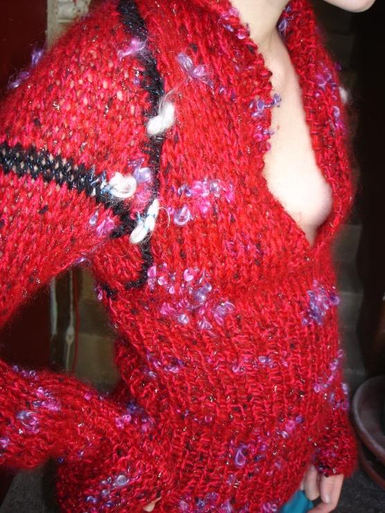 pull laine tricotée main