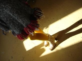 poncho laine tricotée main