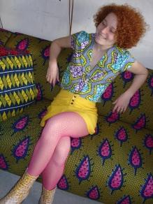 jupe lin chemisette coton