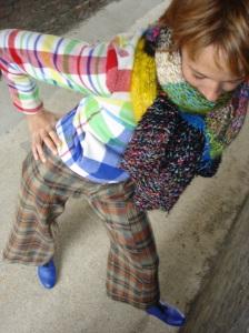 pantalon et blouson en lainage