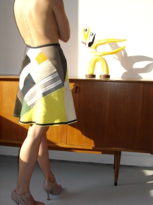 jupe d'été patchwork