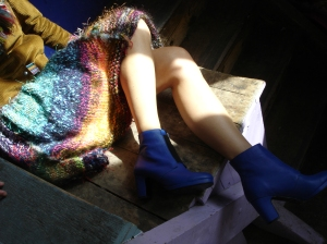 jupe tricotée main