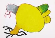 pastel gras 100x75