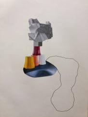 collage sur papier 42x29,7/2018-63 V