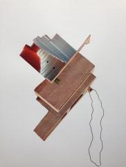 collage sur papier 24x39/2018-30